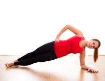 Młodej kobiety ćwiczyć - rozciąganie Zdjęcie Stock