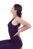 Młodej kobiety backache zdjęcie royalty free
