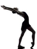 Młodej kobiety baleriny baletniczego tancerza rozciąganie Obraz Stock