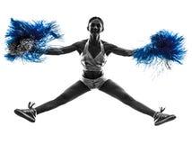 Młodej kobiety chirliderka cheerleading sylwetkę Zdjęcie Royalty Free