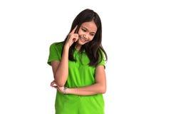 Młodej kobiety główkowanie, odizolowywający na białym tle Fotografia Stock