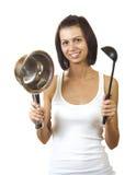 Młodej kobiety kucharstwo zdjęcia stock