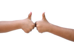 Młodej kobiety ręka odizolowywająca na białym tle Obrazy Royalty Free