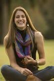 Młodej kobiety relaksować Zdjęcia Stock