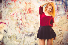 Młodej Kobiety wzorcowy plenerowy Miastowy Zdjęcia Stock