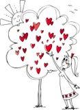 Młodej kobiety zrywania miłości owoc Zdjęcie Stock