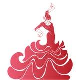 Młodej namiętnej kobiety dancingowy flamenco Obrazy Royalty Free