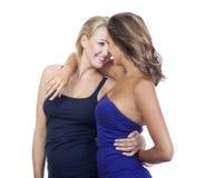 młodej szczęśliwa dwa kobiety obrazy royalty free