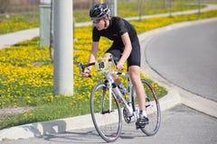 Młodość cyklista Fotografia Royalty Free