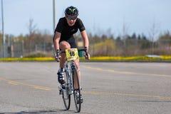 Młodość cyklista Zdjęcia Royalty Free