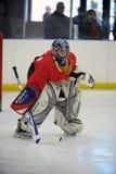 Młodość Lodowy hokej fotografia royalty free
