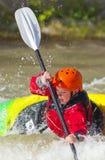Młodość stylu wolnego Kayaker Fotografia Royalty Free