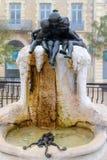 Młodości fontanna w Darcy kwadracie w Dijon, fotografia royalty free