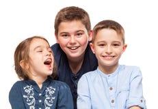 Młodszych Braci ono Uśmiecha się Fotografia Stock