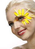 Młody ładny kobiety sztuki portret. Zdjęcia Royalty Free