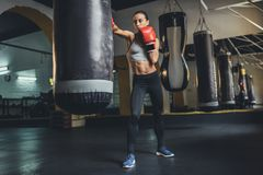 Młody żeński bokser obraz stock