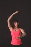 Młody żeński dancingowy jazz fotografia royalty free