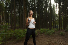 Młody żeński jogger Zdjęcia Stock