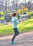 Młody żeński jogger obraz royalty free