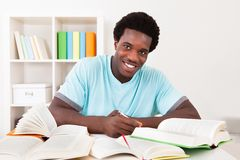 Młody afrykański mężczyzna studiowanie Fotografia Royalty Free