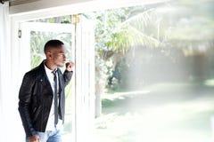 Młody afrykański męski moda model fotografia stock