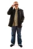 Młody człowiek w okularach przeciwsłoneczne Zdjęcia Stock