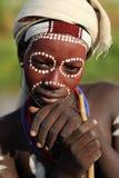 Młody Arbore mężczyzna w Południowym Omo, Etiopia Obraz Royalty Free