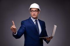 Młody architekt w przemysłowym pojęciu Fotografia Stock