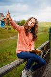Młody artysta przy górą Zdjęcie Stock