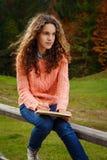 Młody artysta przy górą Zdjęcie Royalty Free