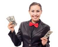 Młody azjatykci bizneswoman z pieniądze Obraz Stock