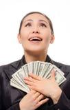 Młody azjatykci bizneswoman z pieniądze Fotografia Royalty Free