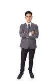 młody azjatykci ufny początkowy przedsiębiorcy biznesmen jest ubranym g Zdjęcia Stock