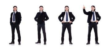 Młody biznesmen odizolowywający na bielu fotografia royalty free