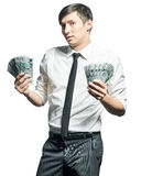 Młody biznesmen z pieniądze Obrazy Stock