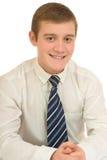 Młody biznesmen za stołem obrazy stock