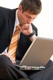 młody biznesmena komputera zdjęcie royalty free