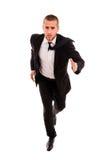 Młody biznesowego mężczyzna bieg Fotografia Stock