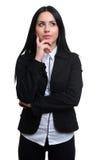 Młody biznesowej kobiety główkowanie zdjęcia royalty free
