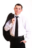 Młody biznesowy mężczyzna Obrazy Royalty Free