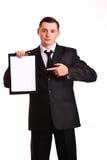 Młody biznesowy mężczyzna Fotografia Stock