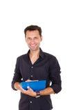 Młody biznesowy mężczyzna bierze notatki Zdjęcie Royalty Free