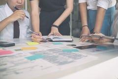 Młody Biznesowy spotkanie opowiada biznesowy rozpoczęcie, biznesowa rozmowa Obrazy Royalty Free