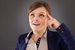 Młody bizneswoman ma genialnego pomysł Fotografia Royalty Free