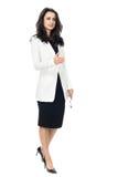 Młody bizneswoman na białym tle Zdjęcia Royalty Free