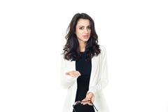 Młody bizneswoman na białym tle Obrazy Stock