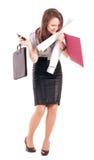 Młody bizneswoman odizolowywający zdjęcia stock