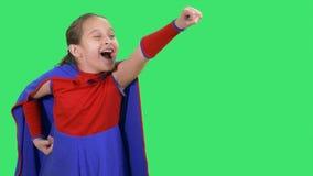 Młody bohater dziewczyny latanie zbiory