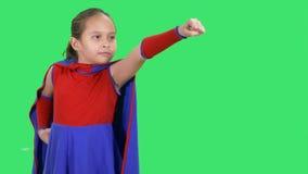Młody bohater dziewczyny latanie zbiory wideo