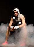 Młody bokser planuje jego strategię Obraz Stock
